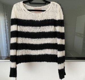 81hours Maglione lavorato a maglia nero-bianco