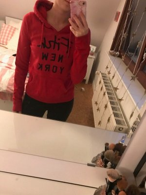 Abercrombie & Fitch Sweater red cotton