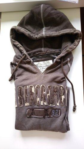 Abercrombie & Fitch Jersey con capucha marrón claro-marrón
