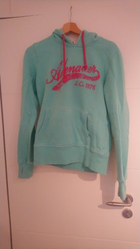 Adenauer & Co Capuchon sweater roze-turkoois