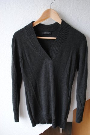 Apanage V-Neck Sweater dark grey-anthracite