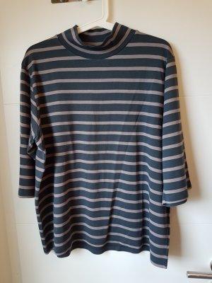 Armedangels Short Sleeve Sweater light grey-anthracite
