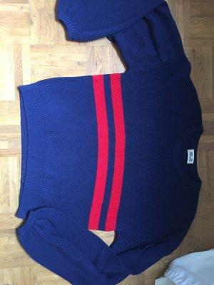 Baum und Pferdgarten Crewneck Sweater dark blue-red cotton