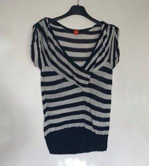 Pullover von Boss Orange, Blau-Weiß gestreift, Größe L