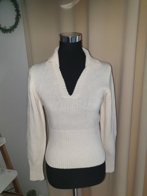 Camera Sweter z dzianiny w kolorze białej wełny-kremowy