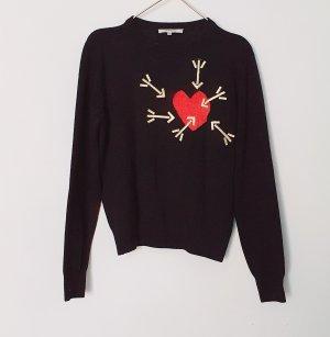 Carven Jersey de lana negro-rojo Lana