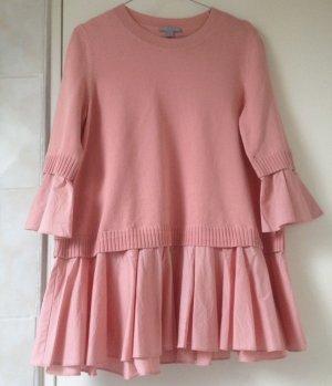 COS Długi sweter jasny różowy-różowy