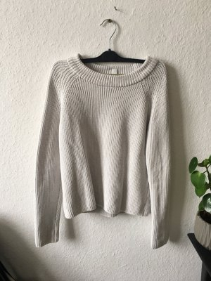 COS Coarse Knitted Sweater light grey