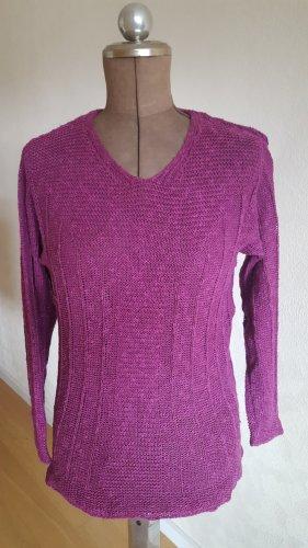 Deerberg Wollen trui violet Katoen