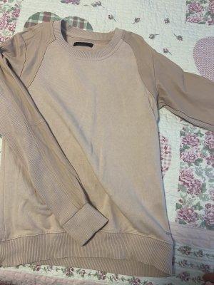 Pullover von Diesel, 100%Baumwolle, Schulter und Ärmel 100% Lammleder,  Grösse S, in altrose