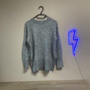 H&M Divided Pull en cashemire argenté-gris clair