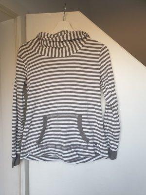 Esprit Jersey con capucha blanco-gris verdoso Algodón