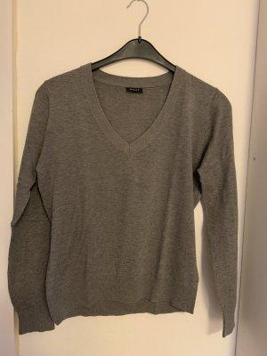 Gant Jersey con cuello de pico gris Algodón