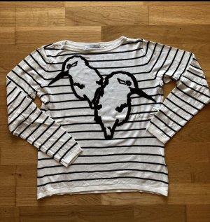 Guido Maria Kretschmer Fine Knit Jumper white-black