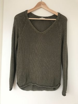 H&M Crochet Sweater khaki