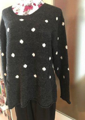 H&M Wollen trui wit-donkergrijs Acryl
