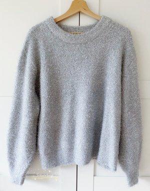 Pullover von H&M in Größe M Silber einwandfreier Zustand