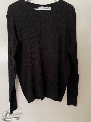H&M Pull torsadé noir