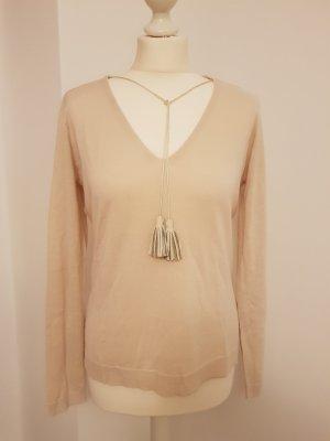 Heine Sweter oversize piaskowy brąz-w kolorze białej wełny