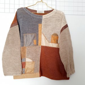 JC de Castellajac Crochet Sweater multicolored cotton