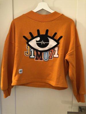 Sweter oversize pomarańczowy