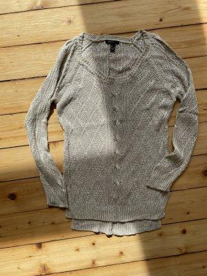 Pullover von Mango mit Leinen