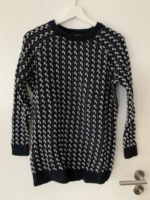 Mango Suit Pullover a maglia grossa nero-bianco