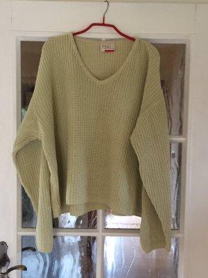 Minx Pullover a maglia grossa verde pallido-giallo lime