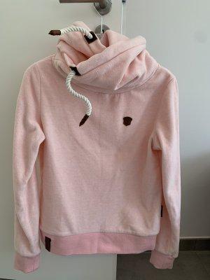 Naketano Pullover in pile rosa chiaro