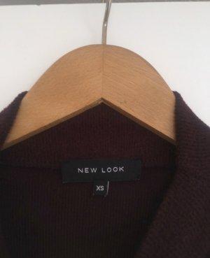 New Look Jersey de cuello alto burdeos