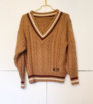 No. 21 V-Neck Sweater multicolored mohair