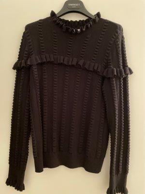 & other stories Pull tricoté noir coton
