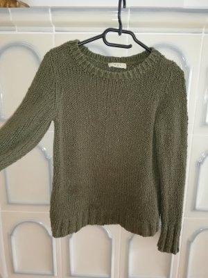 Pullover von OUI Olivgrün, Größe S