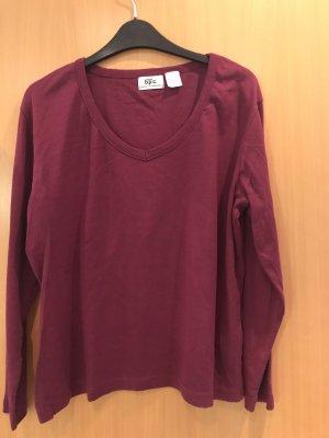 Bon Prix Sweter z okrągłym dekoltem brązowo-czerwony