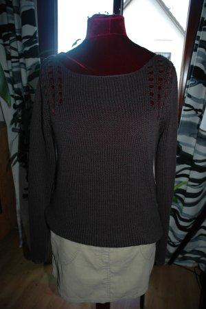 Promod Pullover a maglia grossa grigio scuro