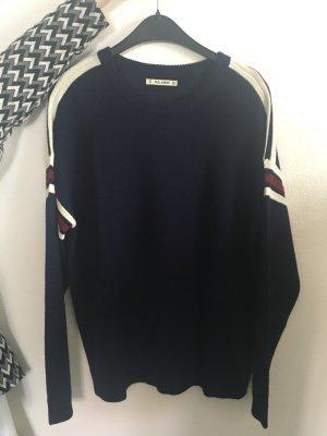Pullover von Pull&Bear Größe M Blogger blau cool 80s