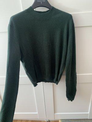 Pull & Bear Maglione lavorato a maglia verde scuro