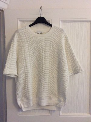 Sandro Short Sleeve Sweater natural white-cream