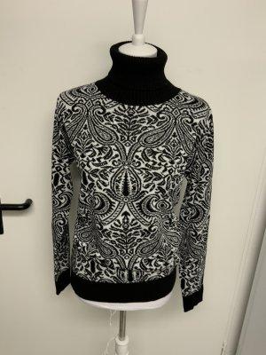 Jersey de lana blanco-negro