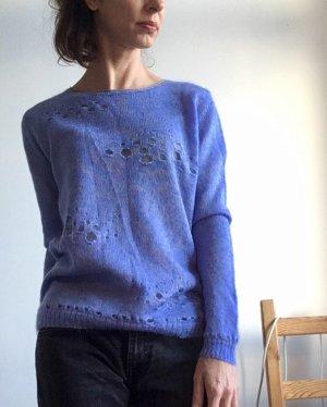 Stefanel Jersey de lana gris-azul acero