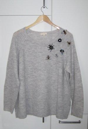 talk about Wool Sweater light grey-black polyacrylic