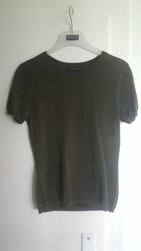 Tara jarmon Short Sleeve Sweater gold-colored-olive green