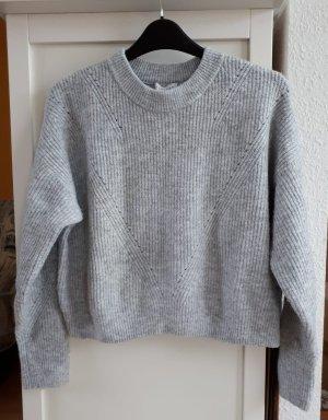 Topshop Kraagloze sweater zilver Acryl