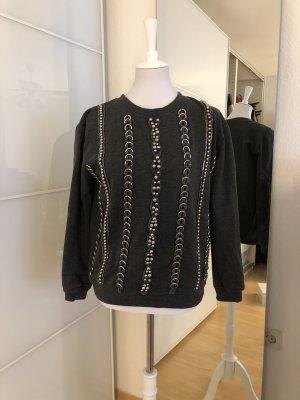 Pullover von Topshop mit silbernen Verzierungen