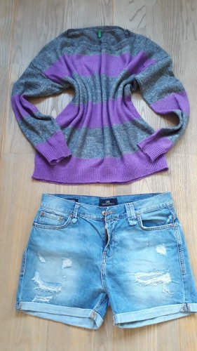 Pullover von United Colors of Benetton; Größe M; Grau/Lila