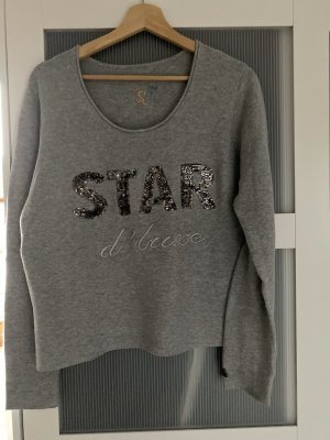 We love XOX Fine Knitted Cardigan light grey-silver-colored