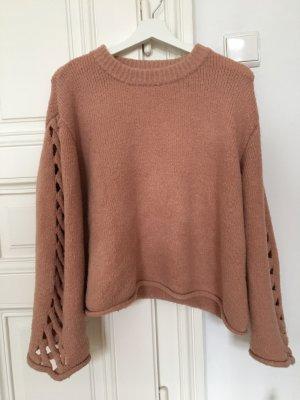 Zara Pull en laine or rose