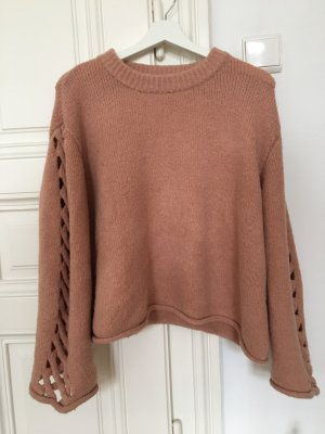 Zara Jersey de lana color rosa dorado
