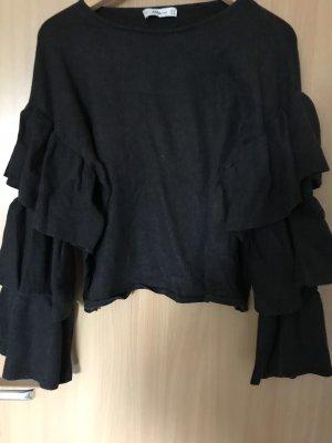 Zara Wełniany sweter czarny