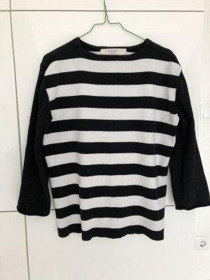 Zara Knitted Sweater black-white polyester